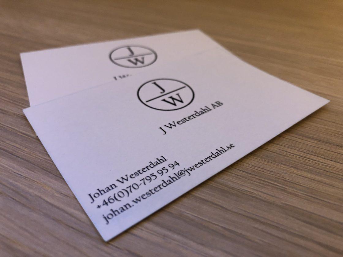 J Westwerdahl AB behövde ny logotyp och nya visitkort.